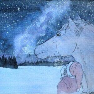 Art Kaviokas -postikortti, Linnunrata