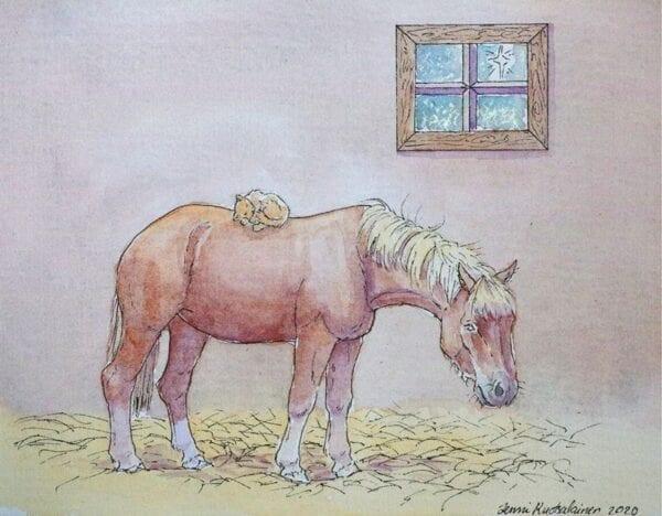 Art Kaviokas -postikortti, Yhteinen lepohetki