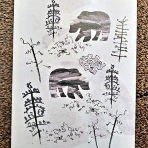 NAAPA design -postikortti, Mettässä
