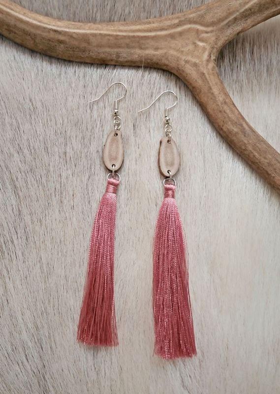 NAAPA design - Runo-korvakorut, vaalea roosa